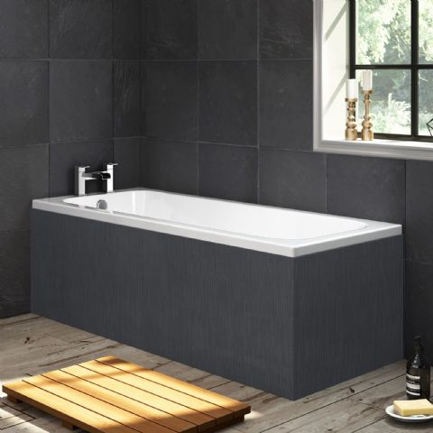 Black Graphite 1 Piece Bath Panels